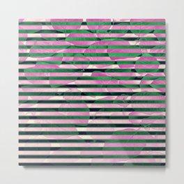 leaf stripe Metal Print