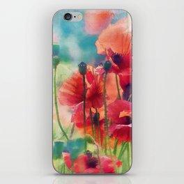 Poppy Parade iPhone Skin