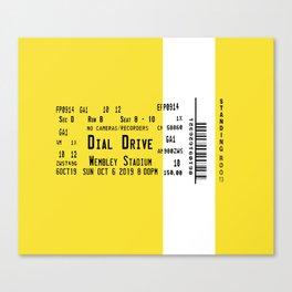 Concert Ticket Stub - Dial Drive Canvas Print