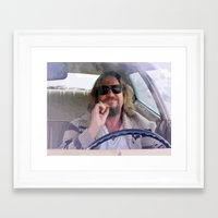 big lebowski Framed Art Prints featuring Lebowski  by Swift Sloth