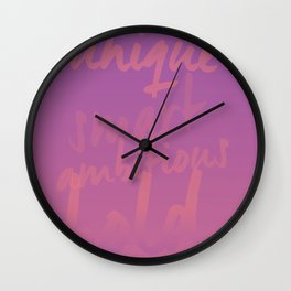 Empowering Sunrise Wall Clock