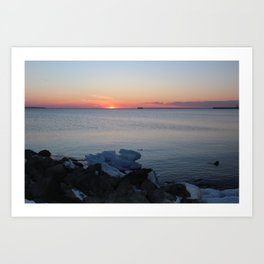 Late winter - early spring sunset Art Print
