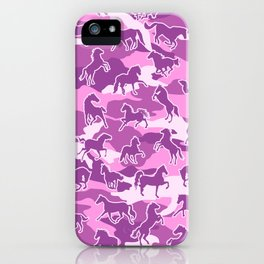 Horse Camo PINK iPhone Case