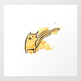Flailing Kitty Art Print