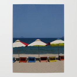 Beach Umbrellas in Nha Trang Poster