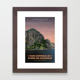 Parc National du Fjord-du-Saguenay Framed Art Print