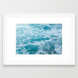 Caribbean Blue Framed Art Print