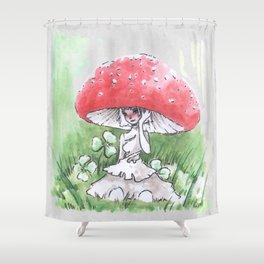 Empire of Mushrooms: Amanita Muscaria Shower Curtain