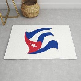 Flag of Cuba 3 -cuban,havana, guevara,che,castro,tropical,central america,spanish,latine Rug
