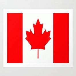 Flag of Canada Art Print
