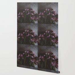 Dark Purple Floral (Color) Wallpaper
