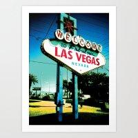 las vegas Art Prints featuring Las Vegas by very giorgious