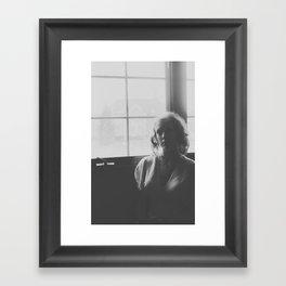 She Waits in Absence Framed Art Print