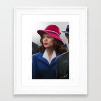 agent carter Framed Art Prints featuring Agent Carter by DandyBee