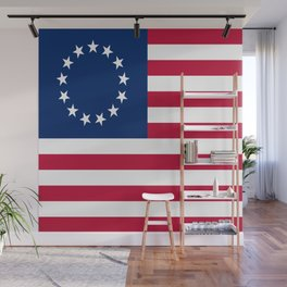 Historical flag of the USA: Betsy ross Wall Mural