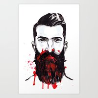 man with bloody nose 1 Art Print