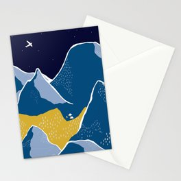 Say goodnight to the mountains Stationery Cards
