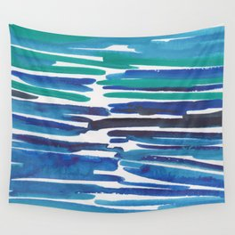 18  |  190408 Blue Abstract Watercolour Wall Tapestry