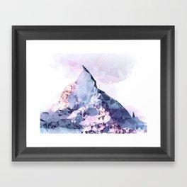 The Crystal Peak Framed Art Print
