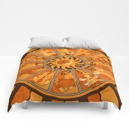 Harley and J Zodiac Orange Comforters