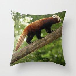 Happy Red Panda. Throw Pillow