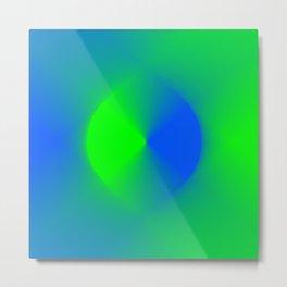 Blue and Green Burst Metal Print