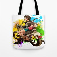 silent Tote Bags featuring Silent by Don Kuing
