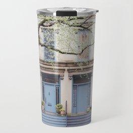 Blue Doors - Chicago Architecture Photography Travel Mug