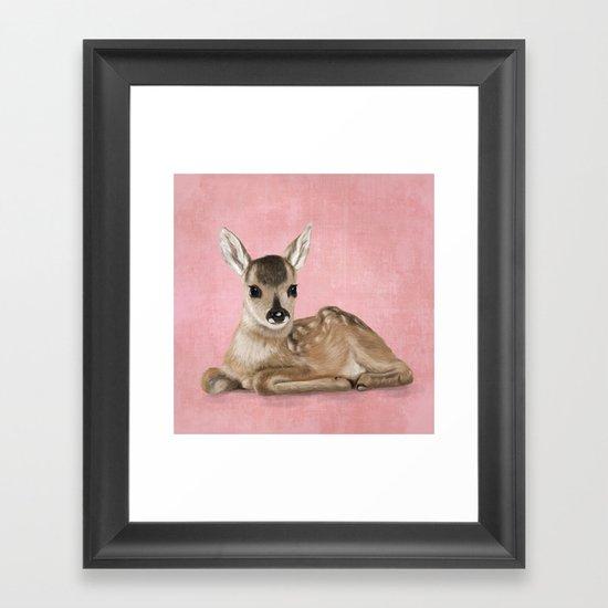 Small fawn Framed Art Print