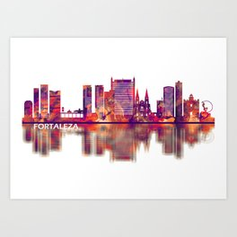 Fortaleza Brazil Skyline Art Print