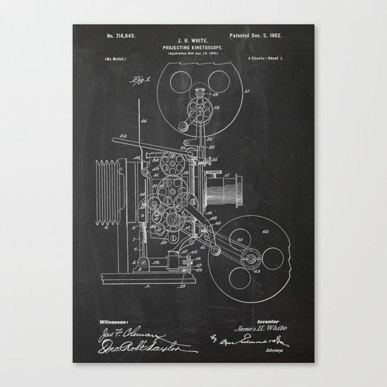 Projecting Kinetoscope Patent Canvas Print