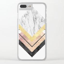 Modern geometric art XIX Clear iPhone Case