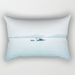 Blue Grey Lake Vietnam Rectangular Pillow