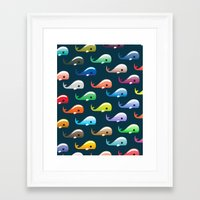 moby Framed Art Prints featuring Moby by Halamo Designs