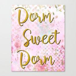 Dorm Sweet Dorm  Canvas Print