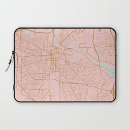 Ann Arbor map, Michigan Laptop Sleeve