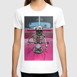 skeleton hood ornament T-shirt