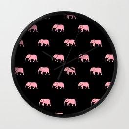 pink elephants . Art Wall Clock