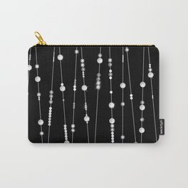 . Pearl beads on a black background Carry-All Pouch