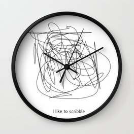 I like to scribble Wall Clock