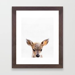 Deer, Baby, Animal, ZOO, Nursery, Minimal, Modern, Wall art Art Print Framed Art Print