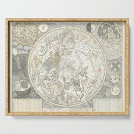 Star map of the Southern Starry Sky Serving Tray