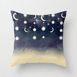 Misty Moonlight Glow Throw Pillow