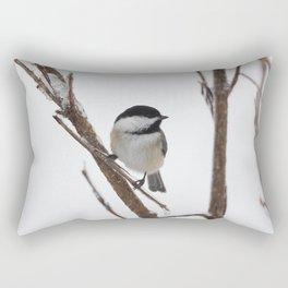 Chickadee- Little Winter Warrior Rectangular Pillow