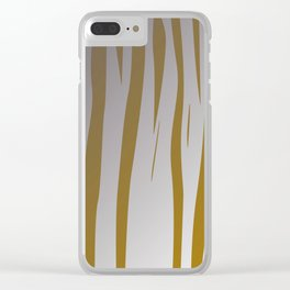 wild design exotic lines gold Clear iPhone Case