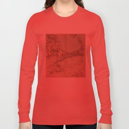 Vintage Map of Cape Cod MA (1905) Long Sleeve T-shirt