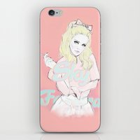 sky ferreira iPhone & iPod Skins featuring Sky Ferreira by Sara Eshak