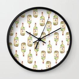 jameson bottle pattern Wall Clock