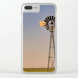 The Old and The New #windmills Clear iPhone Case