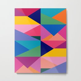 Geometric Color Block Metal Print